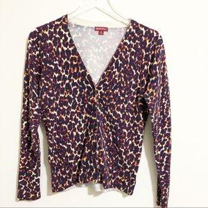 Merona | Cheetah Leopard print cardigan